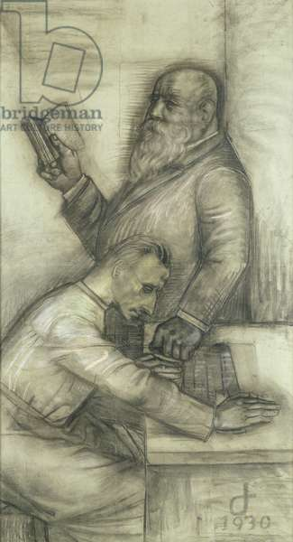 Sketch for a mural in the Dresden Hygiene Museum, 1930 (pastel on paper)
