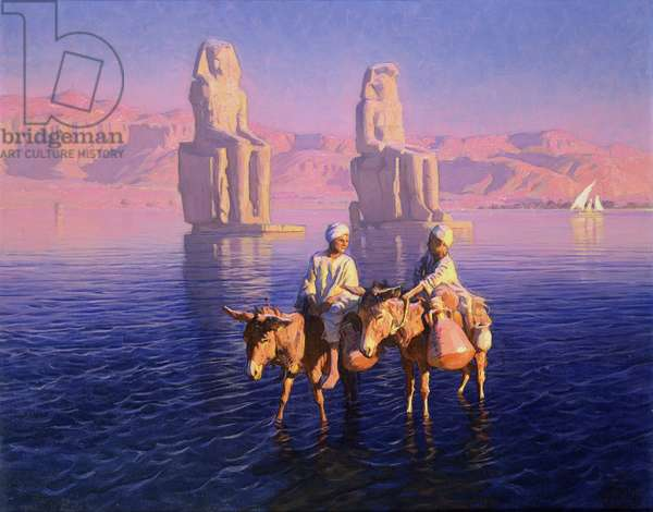 The Colossi of Memnon, West Bank of Thebes, Egypt