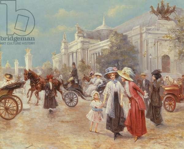 Landaus in the Place de la Concorde