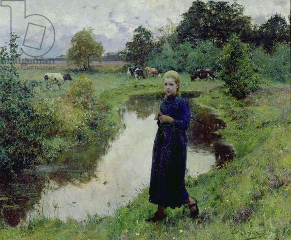 Young Girl in the Fields,