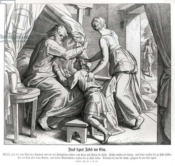 Isaac blesses Jacob in Esau's place, Genesis