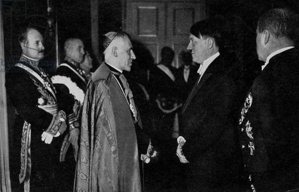 Adolf Hitler meeting papal