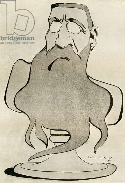 Auguste Rodin caricature by