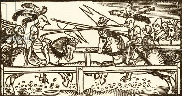 A Tournament, woodcut by Urs Graf, 1521