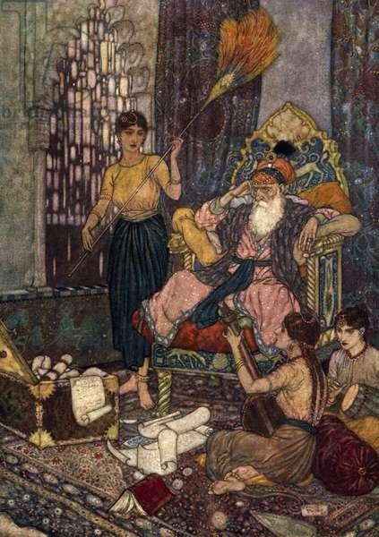 Rubaiyat of Omar Khayyam, 1910 (colour lithograph)