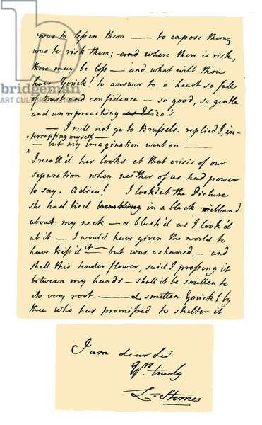 Autograph: Laurence Sterne, 1767.
