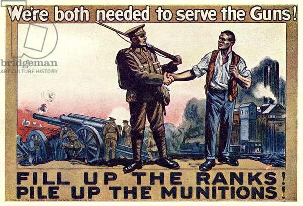 First World War recruitment poster