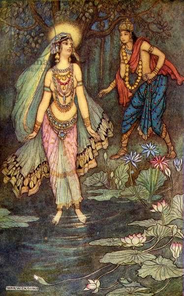 Shantanu meets the goddess Ganga