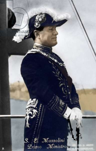 Benito Mussolini - in ornate uniform