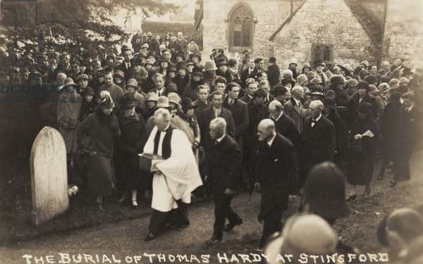 Thomas Hardy burial at