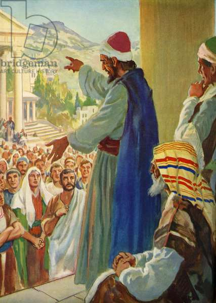 Paul preaches to the people of Athens