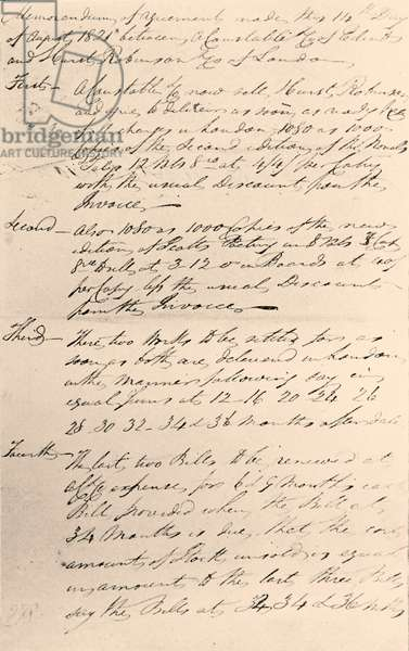 Sir Walter Scott - sale agreement