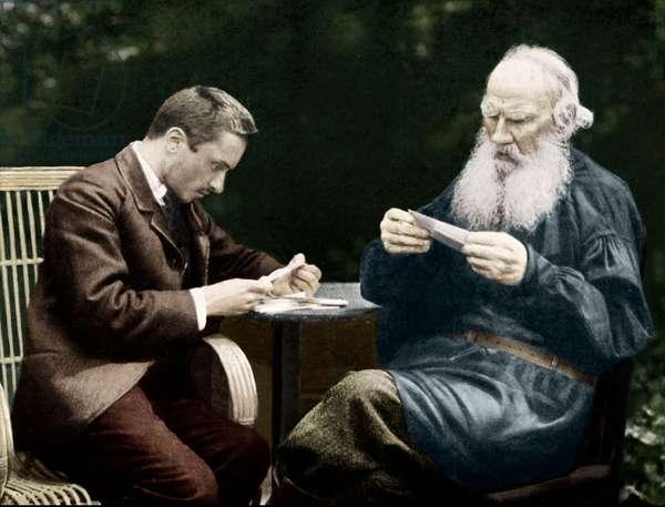 Leo Tolstoy and Valentin Bulgakov sorting post