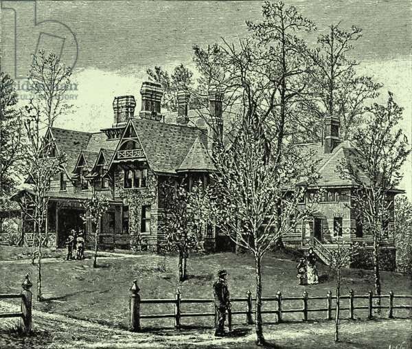 Mark Twain's home at Hartford, USA