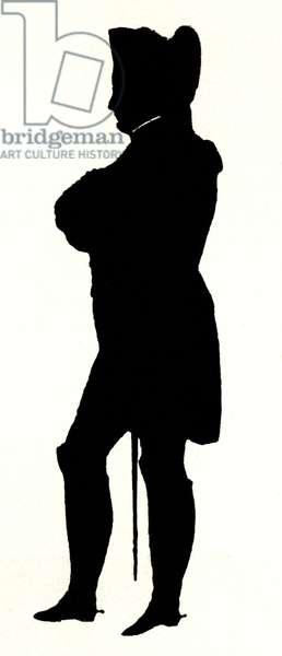 Napoleon Bonaparte silhouette by