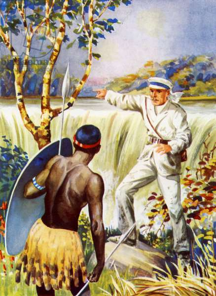 Doctor Livingstone at the Victoria Falls