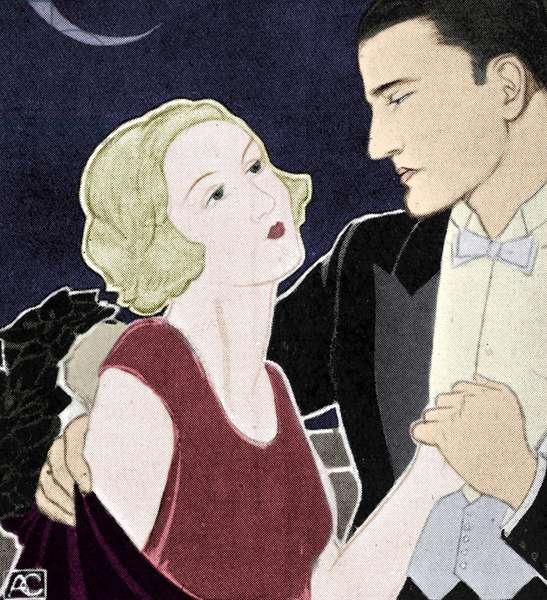 Twenties couple dancing