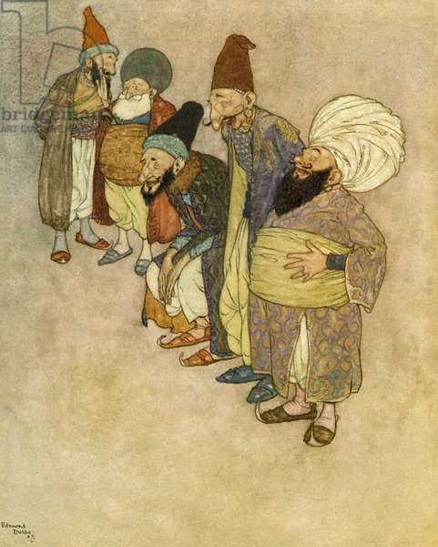 The story of the magic horse, illustration from the Arabian Nights, 1907 (lithograph)
