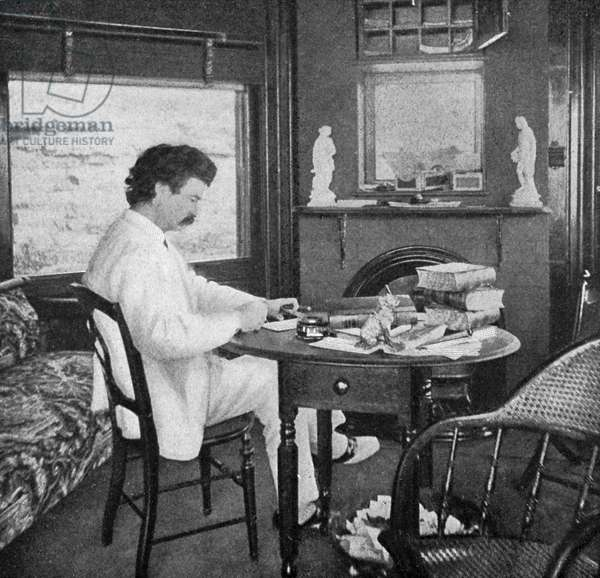 Mark Twain in his study at Quarry Farm