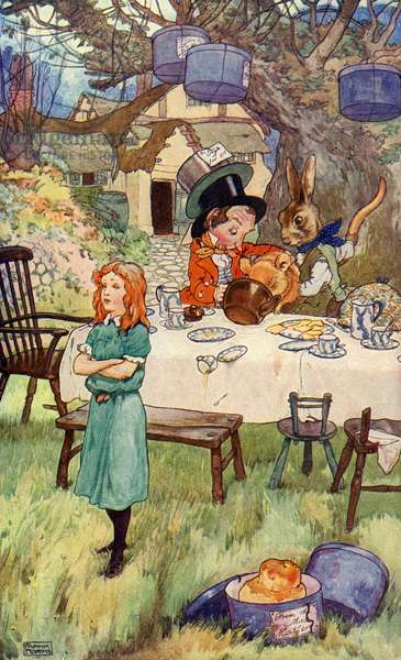 Alice and the  March Hare 's Tea party