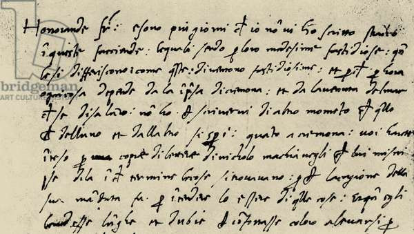 Letter from Niccolò Machiavelli