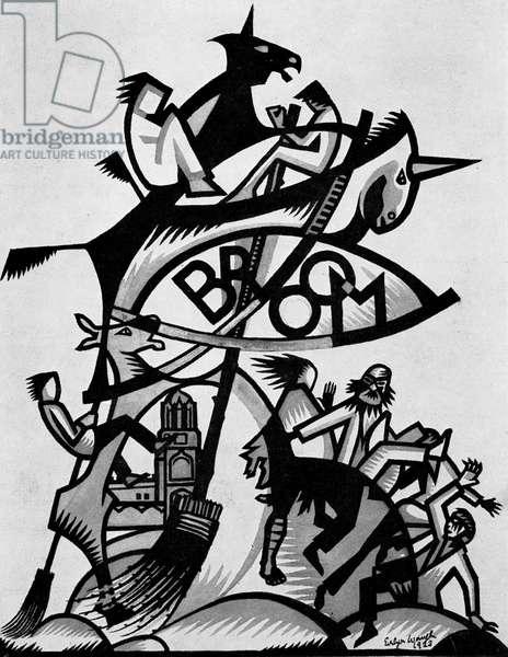 Oxford Broom magazine cover, 1924.