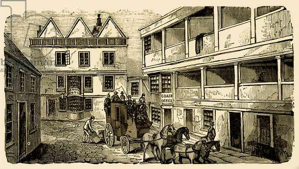 History of British theatre:  inn yard as playhouse