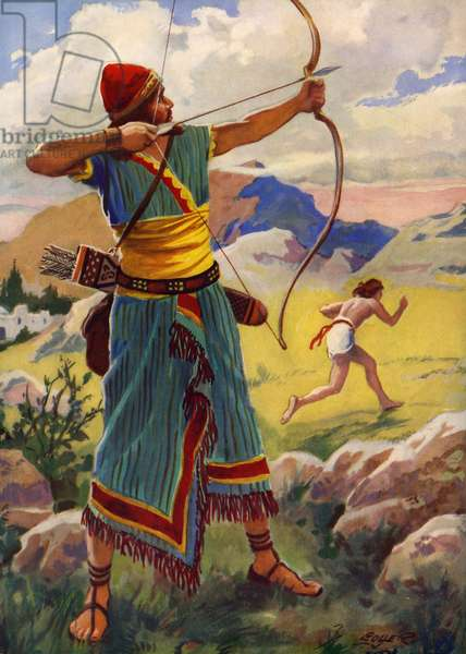 David and Jonathan and the arrows