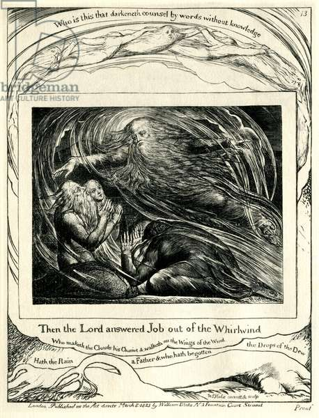 The Book of Job 38:1-2 illustrated by William Blake