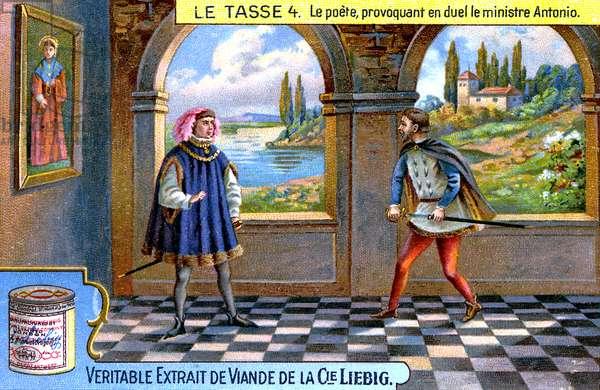 Torquato Tasso provokes duel with Minister Antonio