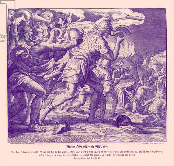 Gideon's victory against the Midianites, Judges