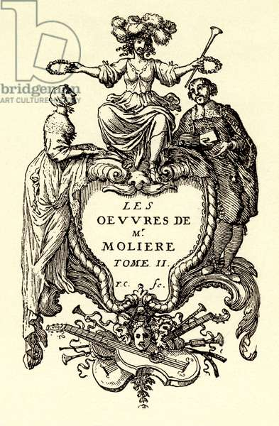 Works of Molière, 2nd Volume - title page