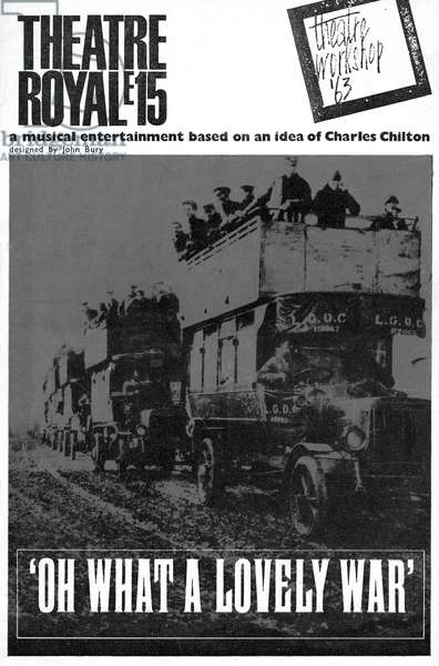 'Oh What a Lovely War'  programme cover
