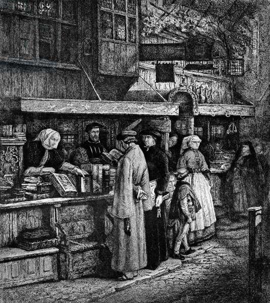 Bookseller in Antwerp printed