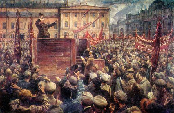 Lenin addressing a May