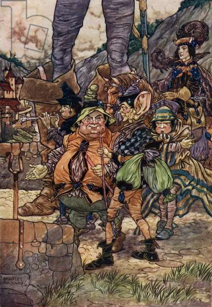 The Five Servants by Grimm Brothers