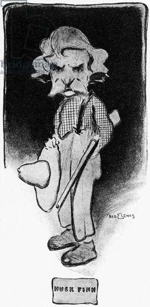 Mark Twain as Huckleberry