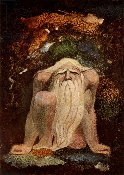 Urizen Penned in the Rock by William Blake