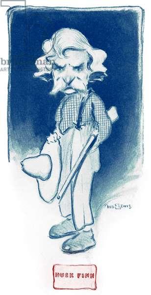 Mark Twain as Huck Finn