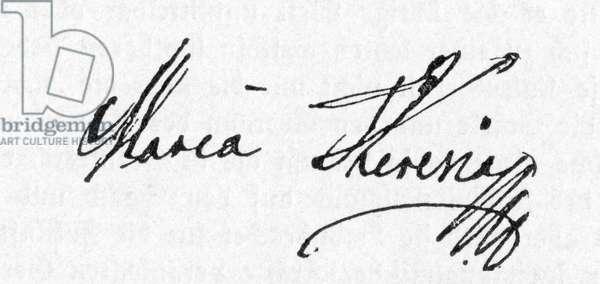 Maria Theresa (or Theresia)