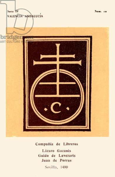 Booksellers' mark: Compañia de Libreros, 1499