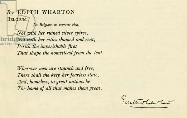 Wharton Edith - Belgium