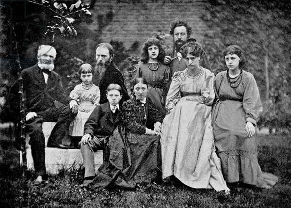 William Morris and Edward Burne Jones - family portrait