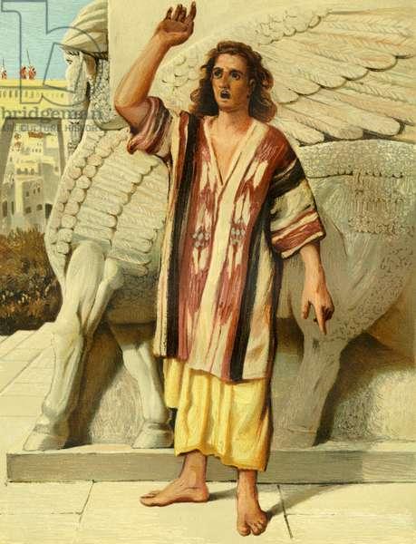 Jonah preaching in Nineveh