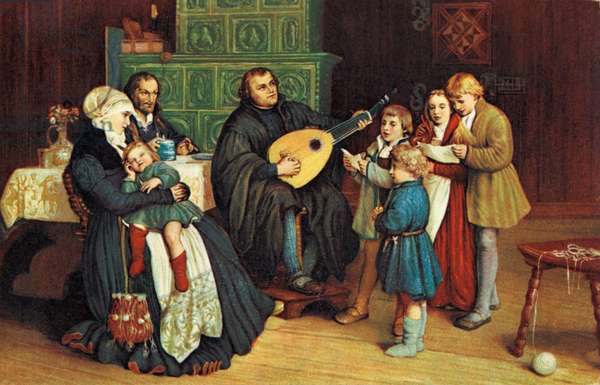 Martin Luther with his