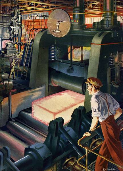 Steel mill, early 1950s