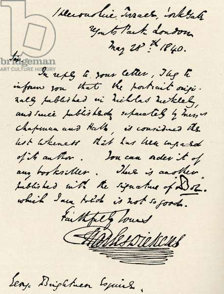 Charles Dickens - Signed
