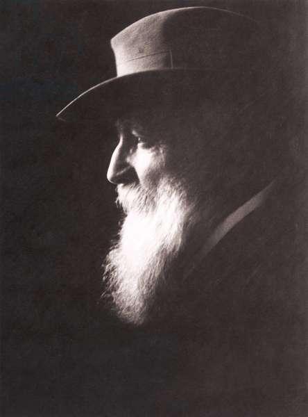 Auguste Rodin portrait with