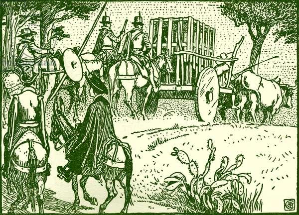 Don Quixote of the Mancha by Walter Crane
