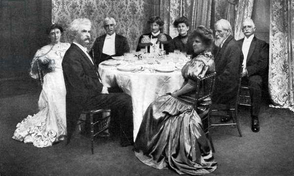 Mark Twain's seventieth birthday dinner group